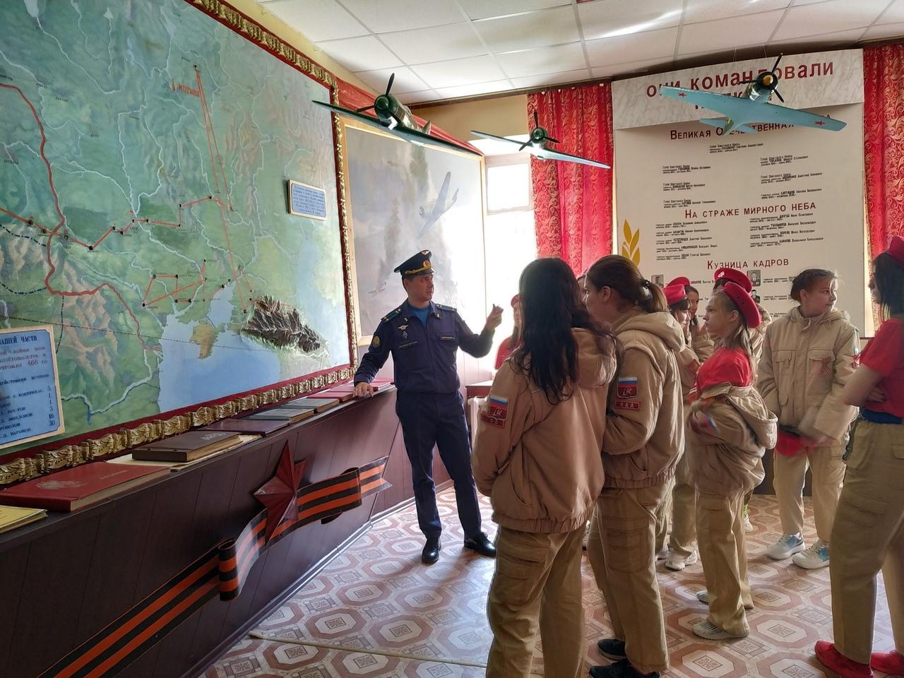 Экскурсия в 627 учебный авиационный полк г. Тихорецк